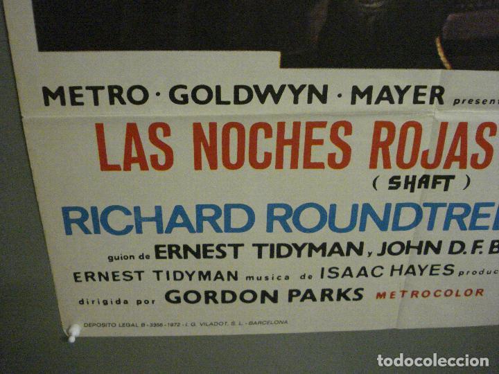 Cine: CDO L720 SHAFT noches rojas de Harlem RICHARD ROUNDTREE BLAXPLOITATION POSTER ORIG 70X100 ESTRENO - Foto 5 - 276525883