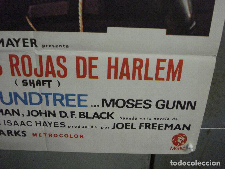 Cine: CDO L720 SHAFT noches rojas de Harlem RICHARD ROUNDTREE BLAXPLOITATION POSTER ORIG 70X100 ESTRENO - Foto 9 - 276525883
