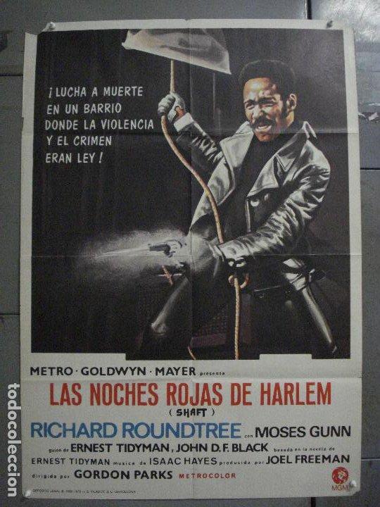 CDO L720 SHAFT NOCHES ROJAS DE HARLEM RICHARD ROUNDTREE BLAXPLOITATION POSTER ORIG 70X100 ESTRENO (Cine - Posters y Carteles - Acción)