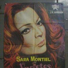 Cine: CDO L744 VARIETES SARA MONTIEL BARDEM JANO POSTER ORIGINAL 70X100 ESTRENO. Lote 276548503