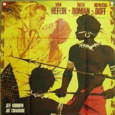 Cine: CR10D TANGANICA VAN HEFLIN RUTH ROMAN BLACK CAST POSTER ORIGINAL ITALIANO 140X200. Lote 276573043