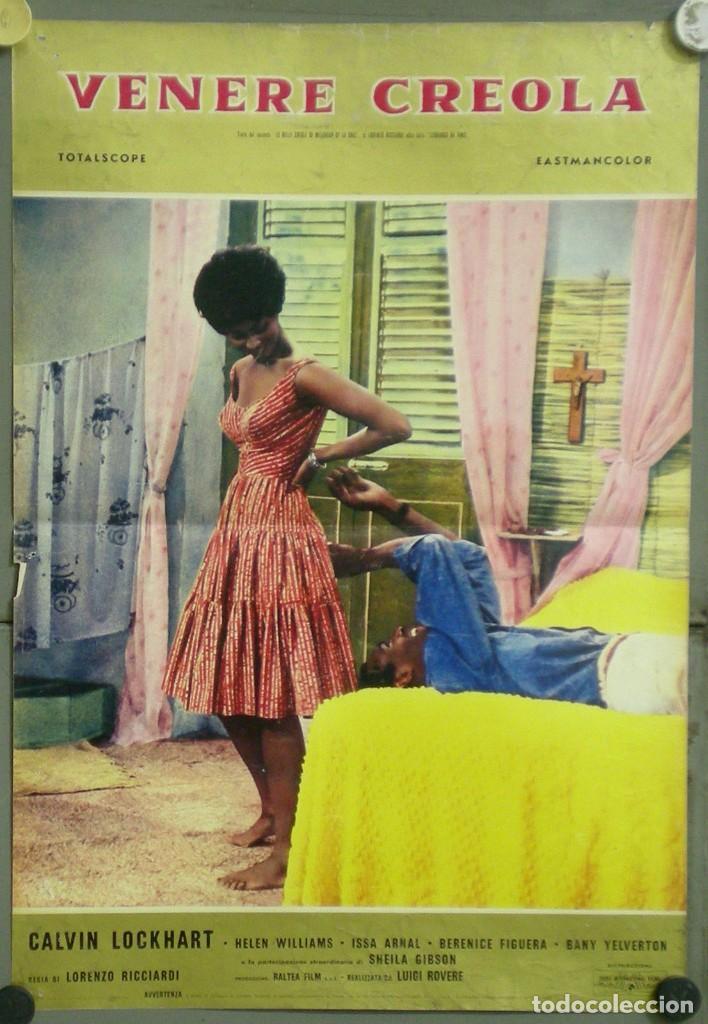 UY56D VENERE CREOLA HELEN WILLIAMS CALVIN LOCKHART BLACK CAST POSTER ORIGINAL ITALIANO 47X68 (Cine- Posters y Carteles - Drama)