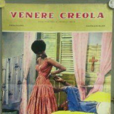 Cine: UY56D VENERE CREOLA HELEN WILLIAMS CALVIN LOCKHART BLACK CAST POSTER ORIGINAL ITALIANO 47X68. Lote 276575168