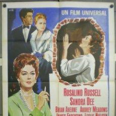 Cine: VB09D ROSIE UNA SEÑORA RIQUISIMA ROSALIND RUSSELL SANDRA DEE POSTER ORIGINAL 100X140 ITALIANO. Lote 276576273