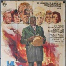 Cine: WH74D LA CABAÑA DEL TIO TOM JOHN KITZMILLER O. W. FISCHER POSTER ORIGINAL ESTRENO 100X140. Lote 276578358