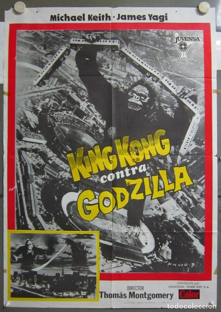 ZO77D KING KONG CONTRA GODZILLA ISHIRO HONDA POSTER ORIGINAL 70X100 ESTRENO (Cine - Posters y Carteles - Ciencia Ficción)