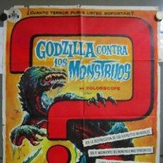 Cine: ZU91D GODZILLA CONTRA LOS MONSTRUOS ISHIRO HONDA SOLIGO POSTER ORIGINAL 70X100 ESTRENO. Lote 276590513