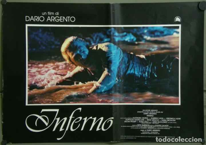 Cine: TZ22D INFERNO DARIO ARGENTO ELEONORA GIORGI SET 8 POSTERS ORIGINALES ITALIANOS 47X68 - Foto 8 - 276591883