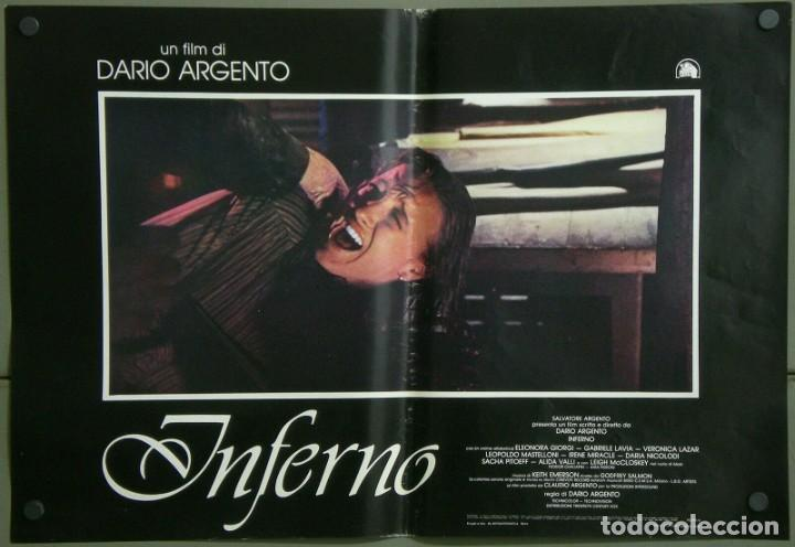 Cine: TZ22D INFERNO DARIO ARGENTO ELEONORA GIORGI SET 8 POSTERS ORIGINALES ITALIANOS 47X68 - Foto 3 - 276591883