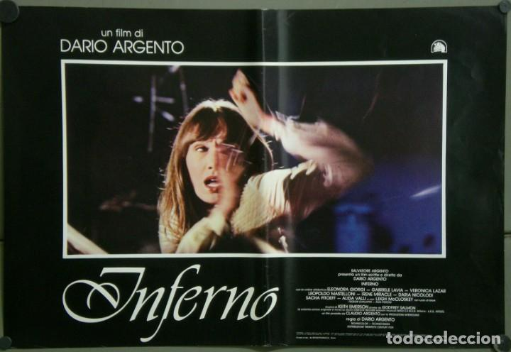 Cine: TZ22D INFERNO DARIO ARGENTO ELEONORA GIORGI SET 8 POSTERS ORIGINALES ITALIANOS 47X68 - Foto 5 - 276591883
