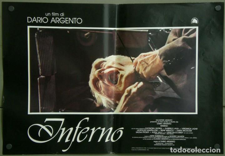 TZ22D INFERNO DARIO ARGENTO ELEONORA GIORGI SET 8 POSTERS ORIGINALES ITALIANOS 47X68 (Cine - Posters y Carteles - Terror)