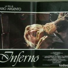 Cine: TZ22D INFERNO DARIO ARGENTO ELEONORA GIORGI SET 8 POSTERS ORIGINALES ITALIANOS 47X68. Lote 276591883