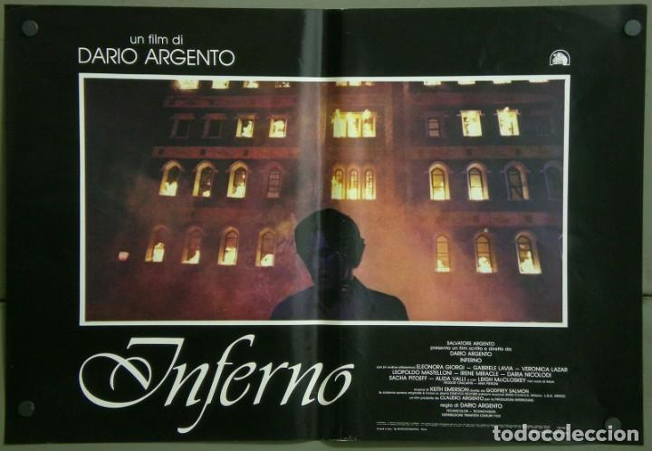 Cine: TZ22D INFERNO DARIO ARGENTO ELEONORA GIORGI SET 8 POSTERS ORIGINALES ITALIANOS 47X68 - Foto 6 - 276591883