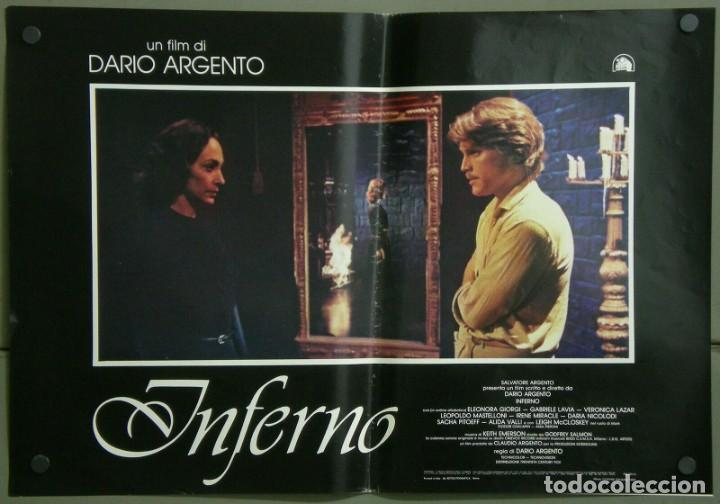 Cine: TZ22D INFERNO DARIO ARGENTO ELEONORA GIORGI SET 8 POSTERS ORIGINALES ITALIANOS 47X68 - Foto 7 - 276591883