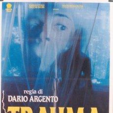 Cine: CX23D TRAUMA DARIO ARGENTO ASIA ARGENTO POSTER ORIGINAL ITALIANO 100X140. Lote 276592688