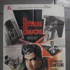 Cine: CDO L773 EL HOMBRE DE CARACAS ESPARTACO SANTONI SHERILL MORGAN EURO SPY POSTER ORIG 70X100 ESTRENO. Lote 276684628