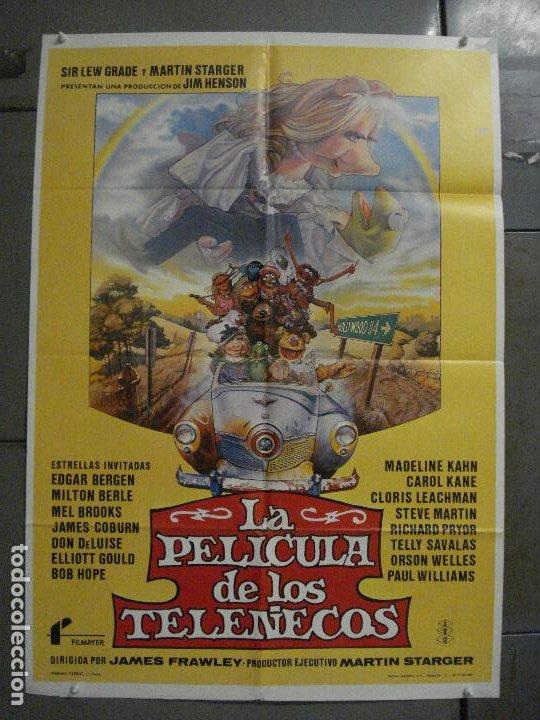 CDO L787 LA PELICULA DE LOS TELEÑECOS JIM HENSON FRANK OZ POSTER ORIGINAL 70X100 ESTRENO (Cine - Posters y Carteles - Infantil)