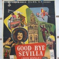 Cinema: CARTER ORIGINAL ESTRENO 100 CM X 70 CM. GOOD BYE SEVILLA. Lote 276701413