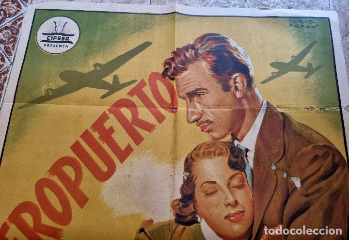 Cine: CARTEL CINE AEROPUERTO LITOGRAFIA PERIS ARAGO CIFESA ANTIGUO ORIGINAL - Foto 7 - 276701658