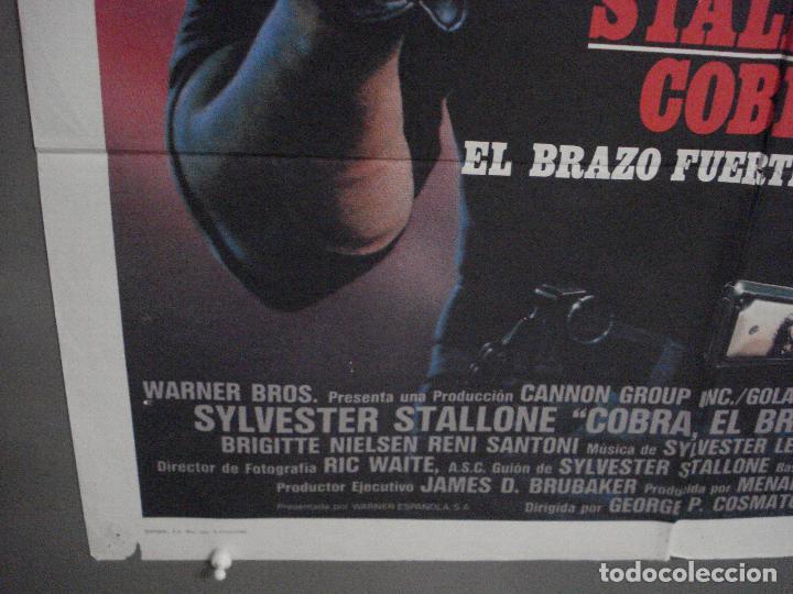 Cine: CDO L800 COBRA EL BRAZO FUERTE DE LA LEY SYLVESTER STALLONE POSTER ORIGINAL 70X100 ESTRENO - Foto 5 - 276703563
