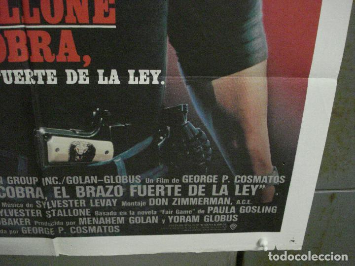 Cine: CDO L800 COBRA EL BRAZO FUERTE DE LA LEY SYLVESTER STALLONE POSTER ORIGINAL 70X100 ESTRENO - Foto 9 - 276703563