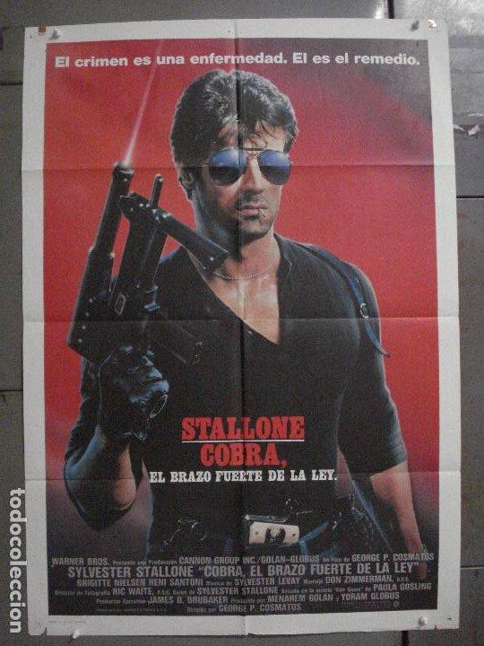 CDO L800 COBRA EL BRAZO FUERTE DE LA LEY SYLVESTER STALLONE POSTER ORIGINAL 70X100 ESTRENO (Cine - Posters y Carteles - Acción)