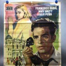Cine: POSTER REVELACION - FRANCISCO RABAL, MAY BRITT, JULIO PEÑA - AÑO 1956. Lote 276708603