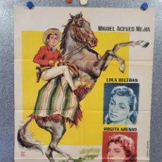 Cine: MAL DE AMORES. MIGUEL ACEVES, LOLA BELTRAN, ROSITA ARENAS. AÑO 1960. POSTER ORIGINAL. Lote 276748263