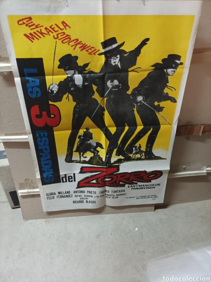 LAS 3 ESPADAS DEL ZORRO SPAGHETTI POSTER ORIGINAL 70X100 YY (2701) (Cine - Posters y Carteles - Aventura)