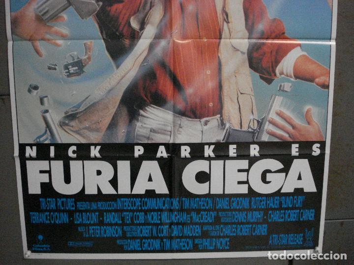 Cine: CDO L840 FURIA CIEGA RUTGER HAUER POSTER ORIGINAL 70X100 ESTRENO - Foto 3 - 276804088