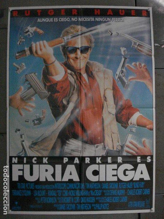 CDO L840 FURIA CIEGA RUTGER HAUER POSTER ORIGINAL 70X100 ESTRENO (Cine - Posters y Carteles - Acción)