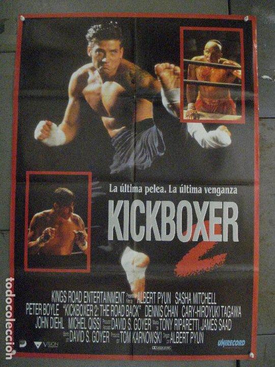 CDO L846 KICKBOXER 2 SASHA MITCHELL ALBERT PYUN ARTES MARCIALES POSTER ORIGINAL 70X100 ESTRENO (Cine - Posters y Carteles - Acción)
