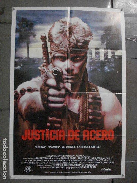 CDO L847 JUSTICIA DE ACERO MARTIN KOVE SELA WARD POSTER ORIGINAL 70X100 ESTRENO (Cine - Posters y Carteles - Acción)