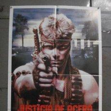 Cine: CDO L847 JUSTICIA DE ACERO MARTIN KOVE SELA WARD POSTER ORIGINAL 70X100 ESTRENO. Lote 276813883