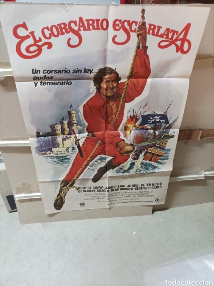 EL CORSARIO ESCARLATA ROBERT SHAW POSTER ORIGINAL 70X100YY (2708) (Cine - Posters y Carteles - Aventura)