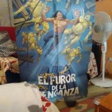 Cine: EL FUROR DE LA VENGANZ-CARTEL ORIGINAL ESTRENO KARATE-CARTER HWANG-10X70-. Lote 276822523