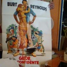 Cine: GATOR EL CONFIDENTE-CARTEL ORIGINAL ESTRENO--BURT REYNOLD-BARBARA HUTTON-1X70-. Lote 276822723