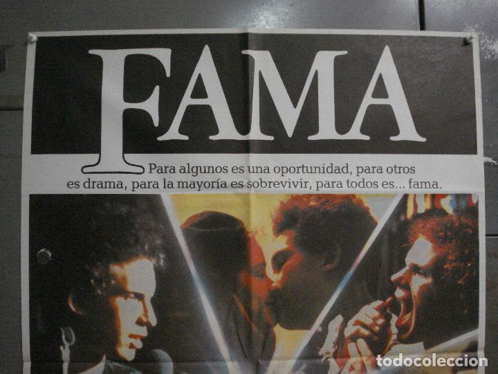 Cine: CDO L859 FAMA ALAN PARKER IRENE CARA POSTER ORIGINAL 70X100 ESTRENO - Foto 2 - 276925938