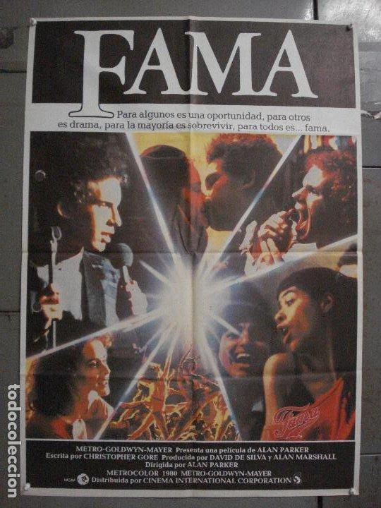 CDO L859 FAMA ALAN PARKER IRENE CARA POSTER ORIGINAL 70X100 ESTRENO (Cine - Posters y Carteles - Musicales)