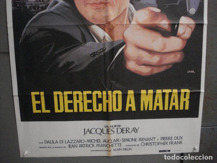 Cine: CDO L867 DERECHO A MATAR ALAIN DELON JANO POSTER ORIGINAL 70X100 ESTRENO - Foto 3 - 276930843