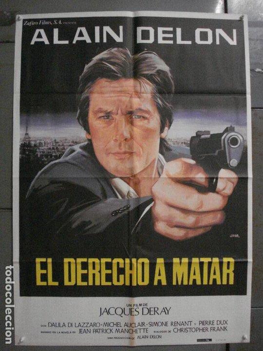 CDO L867 DERECHO A MATAR ALAIN DELON JANO POSTER ORIGINAL 70X100 ESTRENO (Cine - Posters y Carteles - Acción)