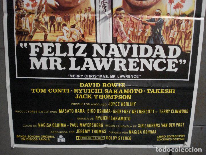 Cine: CDO L868 FELIZ NAVIDAD MR LAWRENCE DAVID BOWIE OSHIMA POSTER ORIGINAL 70X100 ESTRENO - Foto 3 - 276931488