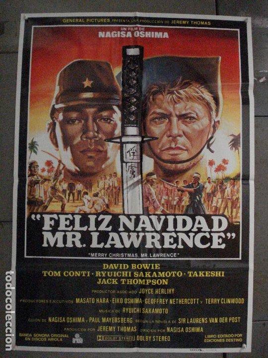 CDO L868 FELIZ NAVIDAD MR LAWRENCE DAVID BOWIE OSHIMA POSTER ORIGINAL 70X100 ESTRENO (Cine- Posters y Carteles - Drama)