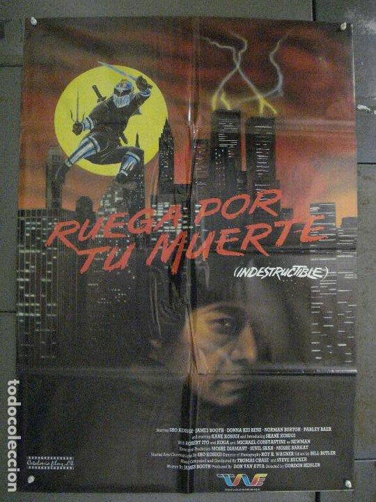 CDO L869 RUEGA POR TU MUERTE KARATE KUNG FU ARTES MARCIALES POSTER ORIGINAL 70X100 ESTRENO (Cine - Posters y Carteles - Acción)