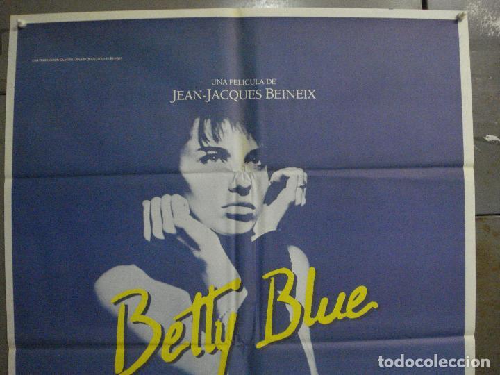 Cine: CDO L870 BETTY BLUE JEAN-JACQUES BEINEIX BEATRICE DALLE POSTER ORIGINAL 70X100 ESTRENO - Foto 2 - 276932158