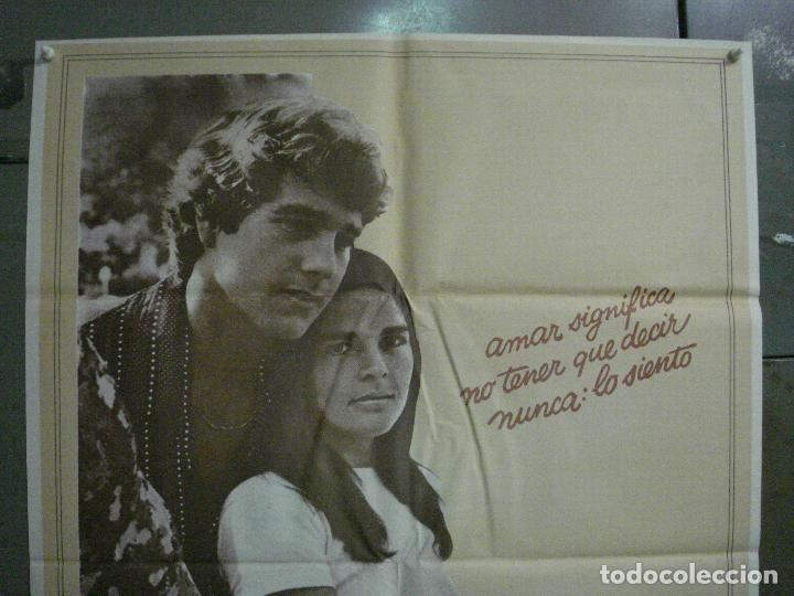Cine: CDO L871 LOVE STORY RYAN ONEAL ALI MACGRAW POSTER ORIGINAL 70X100 ESTRENO - Foto 2 - 276932593