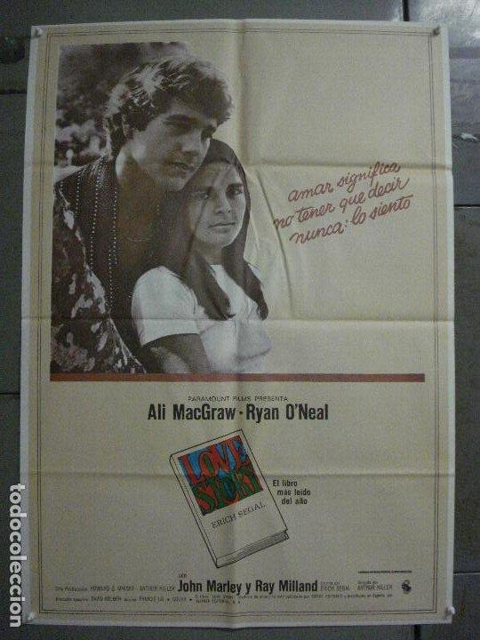 CDO L871 LOVE STORY RYAN O'NEAL ALI MACGRAW POSTER ORIGINAL 70X100 ESTRENO (Cine- Posters y Carteles - Drama)
