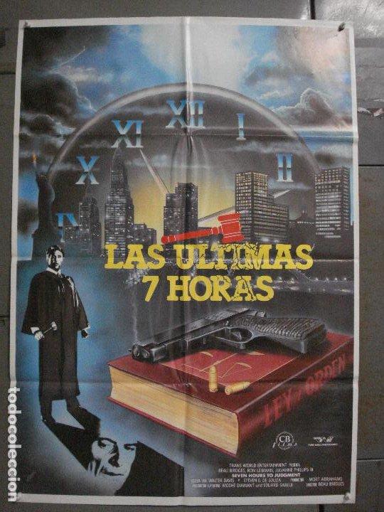 CDO L872 LAS ULTIMAS 7 HORAS BEAU BRIDGES POSTER ORIGINAL 70X100 ESTRENO (Cine - Posters y Carteles - Suspense)