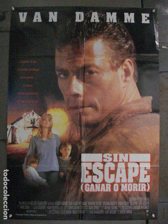 CDO L873 SIN ESCAPE JEAN CLAUDE VAN DAMME POSTER ORIGINAL 70X100 ESTRENO (Cine - Posters y Carteles - Acción)