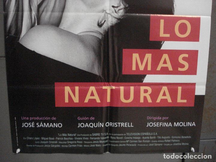 Cine: CDO L874 LO MAS NATURAL MIGUEL BOSE CHARO LOPEZ POSTER ORIGINAL 70X100 ESTRENO - Foto 3 - 276938903